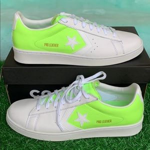 CONVERSE PRO LEATHER OX WHITE/GHOST GREEN/WHITE MN